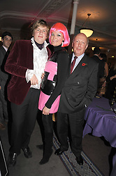 Left to right, PEREGRINE FELLOWES and his parents JULIAN FELLOWES and EMMA KITCHENER-FELLOWES at a party to celebrate the publication of 'Past Imperfect' by Julian Fellowes held at Cadogan Hall, 5 Sloane Terrace, London SW1 on 4th November 2008.