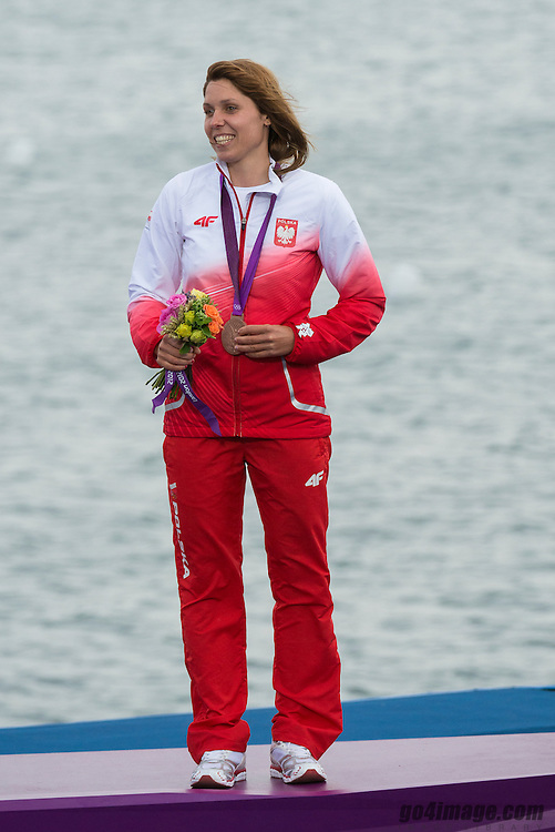 2012 Olympic Games London / Weymouth<br /> RSX Medal Ceremonies<br /> Noceti-Klepacka Zofia, (POL, RS:X Women)