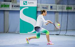 Lea Sunarič; Zavarovalnica Sava državno veteransko prvenstvo Slovenije v tenisu, on April 1, 2017 in Millenium center, BTC, Ljubljana, Slovenia. Photo by Vid Ponikvar / Sportida