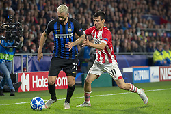 October 4, 2018 - Eindhoven, Netherlands - Marcelo Brozovic of Inter and Hirving Lozano of PSV during the UEFA Champions League Group B match between PSV Eindhoven and FC Internazionale Milano at Philips Stadium in Eindhoven, Holland on October 3, 2018  (Credit Image: © Andrew Surma/NurPhoto/ZUMA Press)