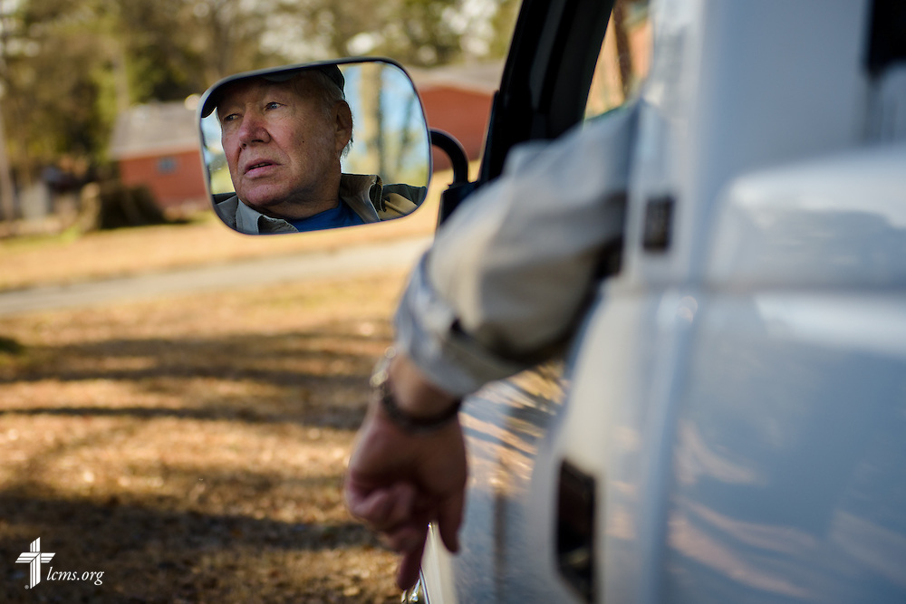 Volunteer Gerald Jomp maneuvers his truck as he helps a fellow volunteer repair Nanny's Korner Care Center on Thursday, Jan. 19, 2017, in Lumberton, N.C. The center was damaged in October from flooding related to Hurricane Matthew. LCMS Communications/Erik M. Lunsford