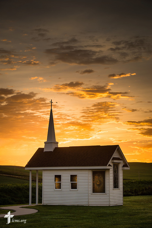 The sun rises over the Wayside Prayer Chapel on Sunday, July 17, 2015, at Mission Central in Mapleton, Iowa. LCMS Communications/Erik M. Lunsford