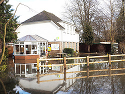 The flooded sports center in Quarry Wood near Marlow Thames Valley, United Kingdom, Tuesday, 18th February 2014. Picture by Max Nash / i-Images