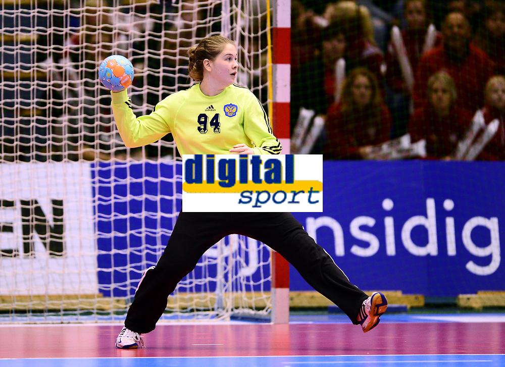 Håndball , 29. november 2013 , Møbelringen Cup kvinner<br /> Russland - Sør-Korea<br /> Evelina Anonshkina , Russland<br /> Handball , Women<br /> Russi - Korea