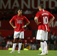 Photo: Paul Thomas.<br /> Manchester United v Inter Milan. Pre Season Friendly. 01/08/2007.<br /> <br /> Dejected Cristiano Ronaldo (L) and Wayne Rooney of Utd.