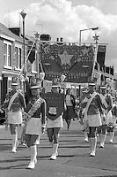 Worksop Telstars Jazz Band, 1985 Yorkshire Miner's Gala. Rotherham.