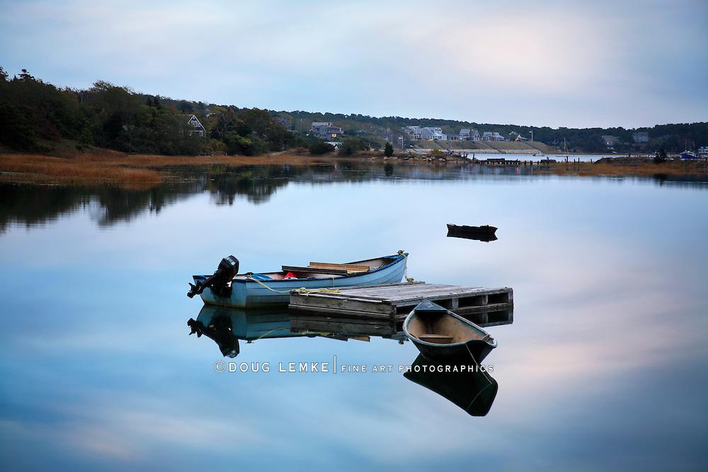 Small Boats In Repose, Wellfleet, Cape Cod, Massachusetts
