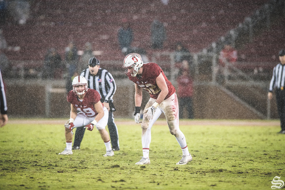 OLB Casey Toohill #52 vs. Rice on November 27, 2016 at Stanford Stadium, Stanford, CA. Photo by Ryan Jae
