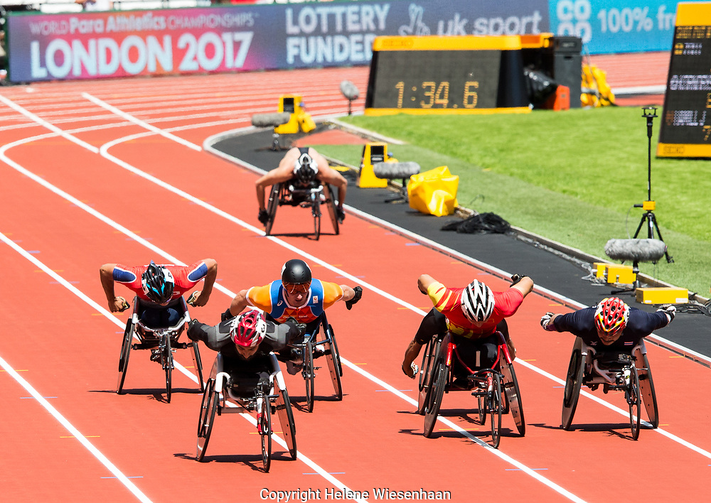 Kenny van Weeghel 800m serie, Ipc world Championships para athletics london 2017