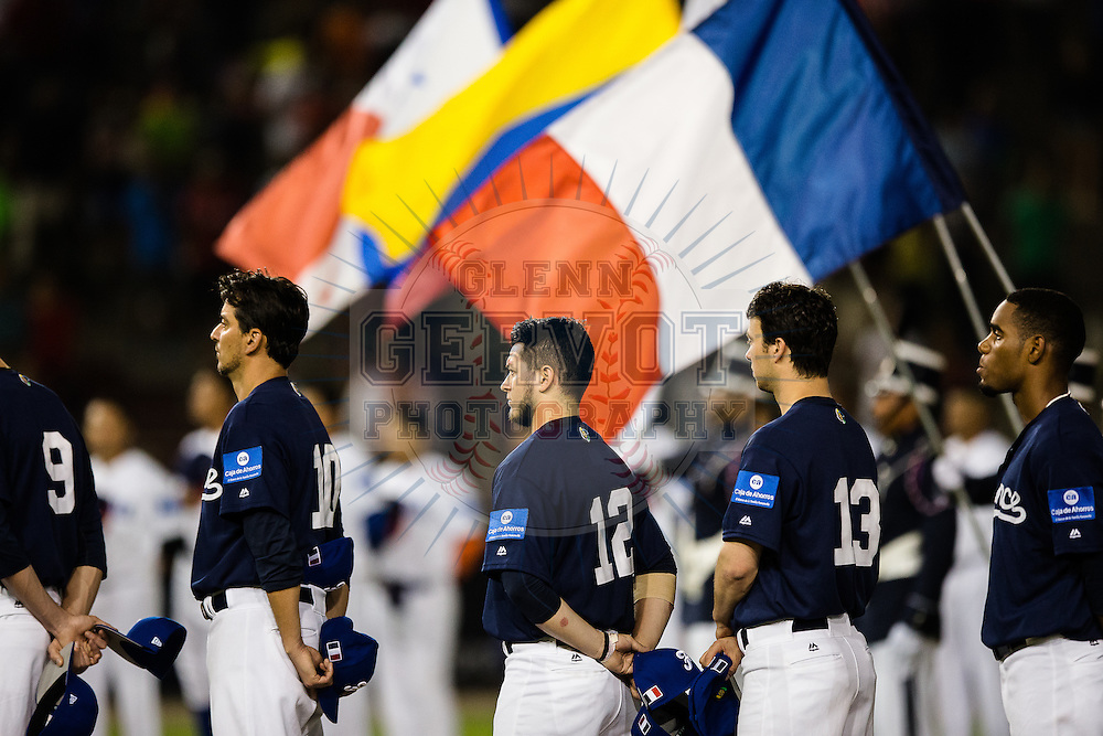 Shots taken during Team France first game of the World Baseball Classic Qualifier 2016 in Panama City, against Panama at Rod Carew Stadium.<br /> Panama won 10-2.<br /> 16/03/2016.<br /> <br /> Credit photo : Glenn Gervot
