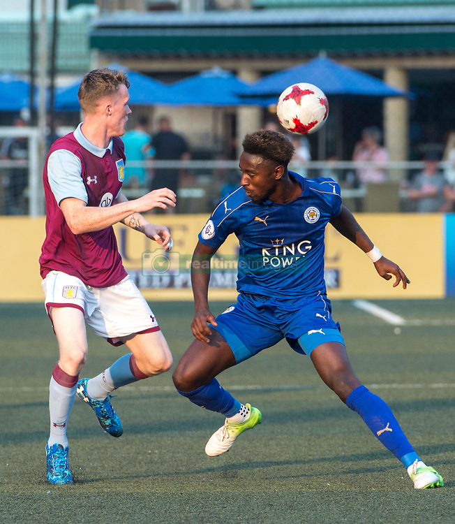 May 28, 2017 - Hong Kong, Hong Kong SAR, China - Lamine Kaba Sherif of Leicester City (R) in action.Leicester City win their second HKFC Citi Soccer Sevens title following a 3-0 victory over defending champions Aston Villa in the final.2017 Hong Kong Soccer Sevens at the Hong Kong Football Club Causeway Bay. (Credit Image: © Jayne Russell via ZUMA Wire)