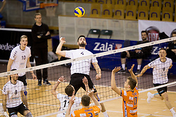 Zan Novljan of Calcit Volley during 1st Leg volleyball match between ACH Volley and OK Calcit Volley in Final of 1. DOL Slovenian National Championship 2017/18, on April 17, 2018 in Hala Tivoli, Ljubljana, Slovenia. Photo by Urban Urbanc / Sportida