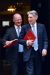 © Licensed to London News Pictures. 11/06/2013. westminster, UK. David Willetts, Conservative MP, Minister of State (Universities and Science) (left) and Philip Hammond, Conservative MP, Secretary of State for Defence,.  Ministers on Downing Street today 11th June 2013. Photo credit : Stephen Simpson/LNP