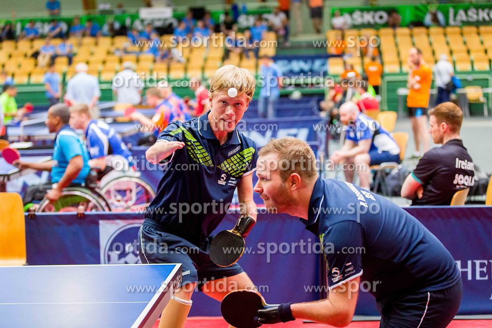 (Team DEN) ROSENMEIER Peter and HANSEN Rasmus Damkjeer in action during 15th Slovenia Open - Thermana Lasko 2018 Table Tennis for the Disabled, on May 10, 2018 in Dvorana Tri Lilije, Lasko, Slovenia. Photo by Ziga Zupan / Sportida