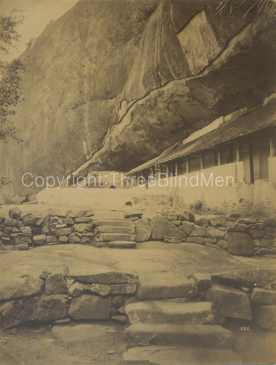 The rock temple at Dambulla.<br /> Skeen &amp; Co. Photographs of the historical sites of Ceylon.