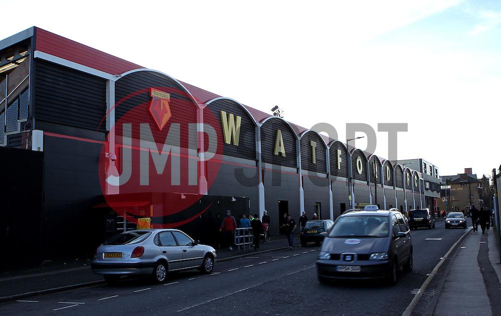 Vicarage Road, home of Watford FC - Mandatory byline: Robbie Stephenson/JMP - 07966 386802 - 28/12/2015 - FOOTBALL - Vicarage Road - Watford, England - Watford v Tottenham Hotspur - Barclays Premier League