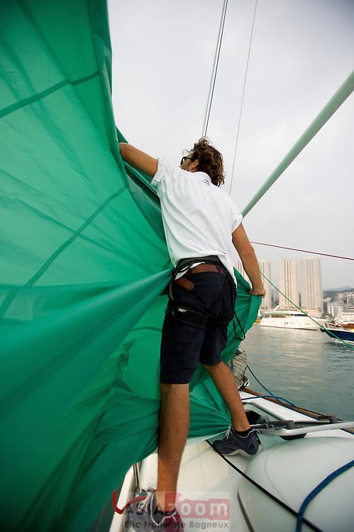 Affalage de Spi lors de la China Cup International regatta 2007