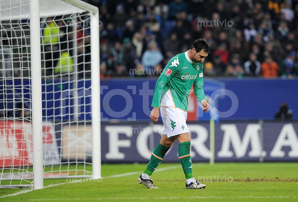 FUSSBALL   1. BUNDESLIGA   SAISON 2008/2009   14. SPIELTAG Hamburger SV - SV Werder Bremen         23.11.2008 Hugo ALMEIDA (Bremen) enttaeuscht