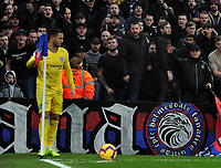 Football - 2018 / 2019 Premier League - Crystal Palace vs Chelsea<br /> <br /> Chelsea Player, Eden Hazard gets abuse from the Palace fans as he waits to take a corner kick at Selhurst Park<br /> <br /> Credit: COLORSPORT/ANDREW COWIE