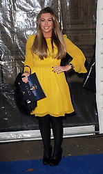 Lauren Goodger arriving at the Cirque Du Soleil: Totem - gala night held at  the Royal Albert Hall in London, Thursday 5th January 2012. Photo by: Stephen Lock / i-Images