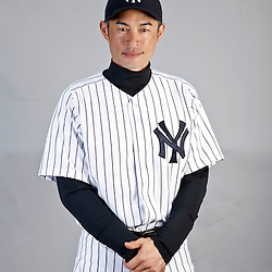 Feb 20, 2013; Tampa, FL, USA; New York Yankees right fielder Ichiro Suzuki (31) during photo day at Steinbrenner Field. Mandatory Credit: Derick E. Hingle-USA TODAY Sports