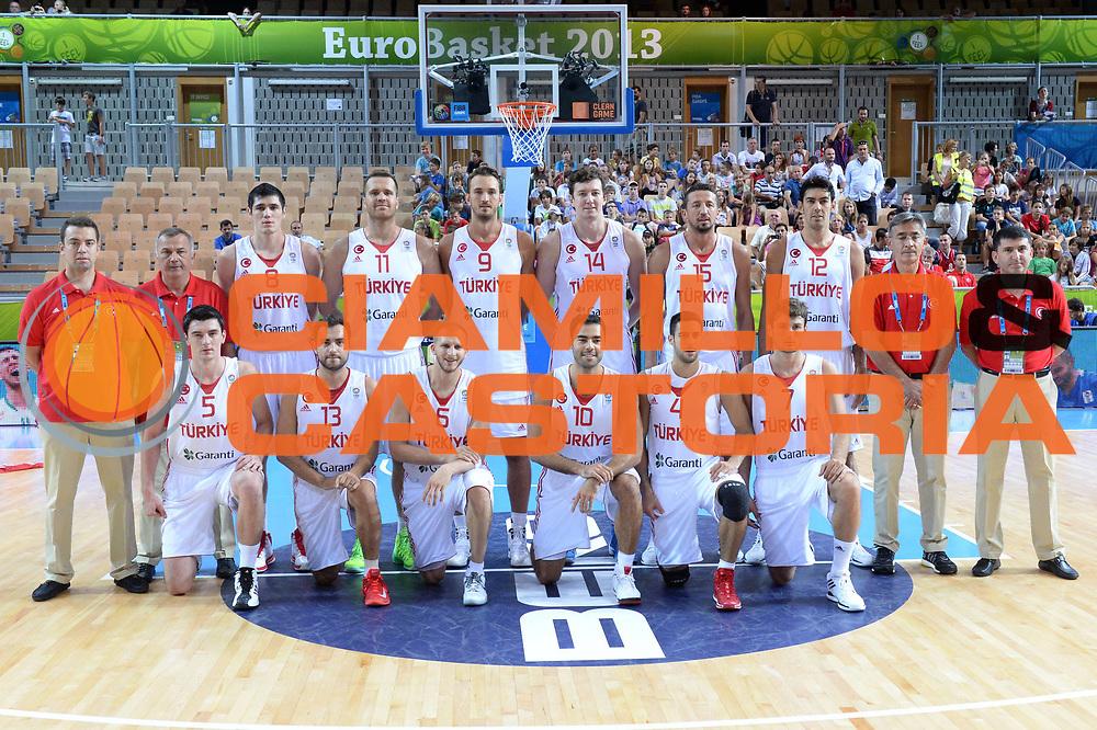 DESCRIZIONE : Capodistria Koper Slovenia Eurobasket Men 2013 Preliminary Round Turchia Finlandia Turkey Finland<br /> GIOCATORE : Team<br /> CATEGORIA : Ritratto<br /> SQUADRA : Turchia<br /> EVENTO : Eurobasket Men 2013<br /> GARA : Turchia Finlandia Turkey Finland<br /> DATA : 04/09/2013 <br /> SPORT : Pallacanestro&nbsp;<br /> AUTORE : Agenzia Ciamillo-Castoria/Max.Ceretti<br /> Galleria : Eurobasket Men 2013 <br /> Fotonotizia : Capodistria Koper Slovenia Eurobasket Men 2013 Preliminary Round Turchia Finlandia Turkey Finland<br /> Predefinita :