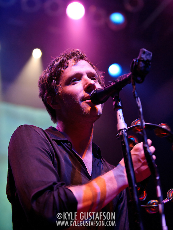 Washington, D.C. - April 26, 2010:  OK Go, featuring lead singer and D.C.-native Damian Kulash, play a sold out show at the 9:30 Club.  The band are touring behind their latest album, Of the Blue Colour of the Sky. (Photo by Kyle Gustafson/For The Washington Post)