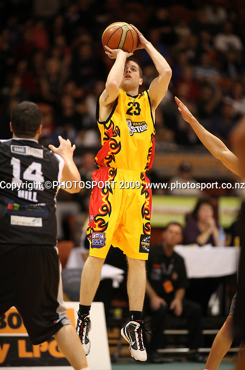 Piston's Eric Devendorff. Hawkes Bay Hawks v Waikato Pistons. National Basketball League. Pettigrew Green Arena, Napier, New Zealand. Friday 09 April 2010. Photo: John Cowpland/PHOTOSPORT