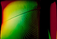 "Turbine Blade ""color encoded moire"