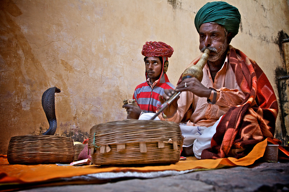 Snake Charmers in Jaipur, India. <br /> Photo by Lorenz Berna