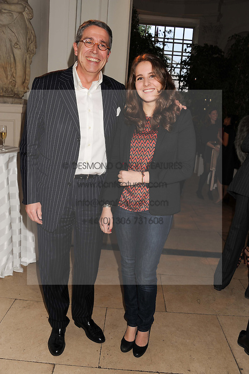 Arnaud de Puyfontaine chief executive, National Magazines and his daughter Ines de Puyfontaine at a reception to present the new Cartier Tank Watch Collection held at The Orangery, Kensington Palace Gardens, London W8 on 19th April 2012.