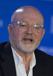 June 6, 2017 - Beverly Hills, California, United States of America - Tuesday June 6, 2017. Mickey Drexler is stepping down as the CEO of J.Crew, but will remain chairman. FILE PHOTO: Mickey Drexler, Chairman and CEO, J.Crew Group, Inc. during the 2014 Milken Institute Global Conference held at the Beverly Hilton Hotel in Beverly Hills, California. JAVIER ROJAS/PI (Credit Image: © Prensa Internacional via ZUMA Wire)
