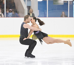 © Licensed to London News Pictures.10_12_2013.<br /> LONDON UK. Dancing On Ice Champions Beth Tweddle and dance partner Dan Whiston give a dance demonstration at opening of Streatham Ice rink, London. Photo credit : Andrew Baker/LNP