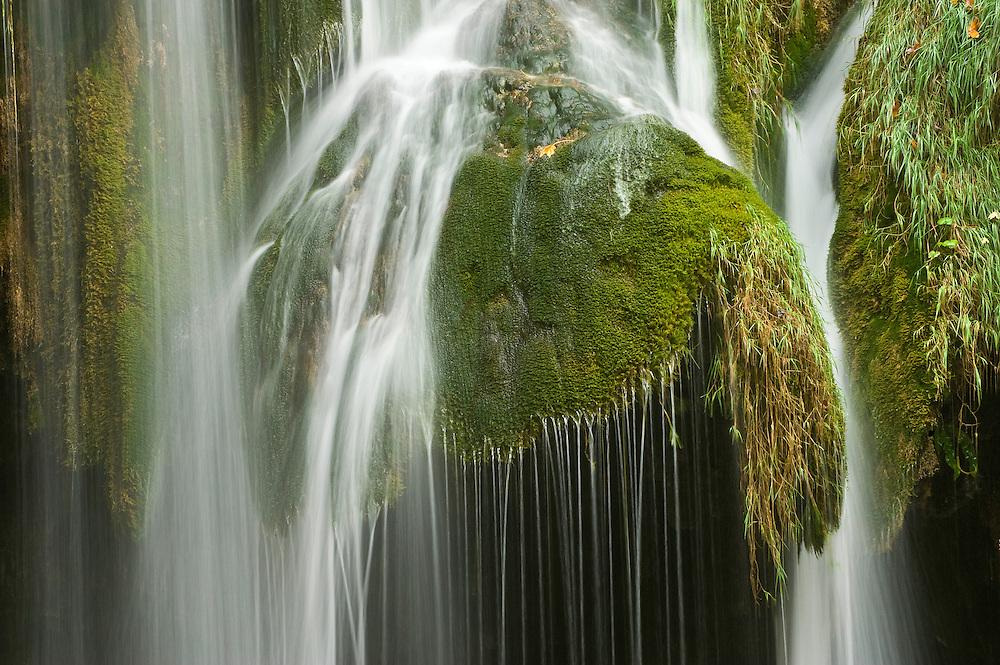Galovac Buk waterfalls (detail), Upper lakes Plitvice National Park, Croatia