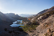 On the Duck Pass Trail, looking back on Barney Lake, in the John Muir Wilderness, CA.