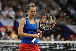 November 10, 2018 - Prague, Czech Republic - Barbora Strycova of the Czech Republic in action during the 2018 Fed Cup Final between the Czech Republic and the United States of America in Prague in the Czech Republic. (Credit Image: © Slavek Ruta/ZUMA Wire)