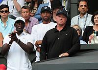 Tennis - 2017 Wimbledon Championships - Week Two, Thursday [Day Ten]<br /> <br /> Women's Singles, Semi Final match<br /> <br /> Venus Williams (USA) vs. Johanna Konta (GBR)<br /> <br /> Venus Williams Coach, David Witt on  Centre Court <br /> <br /> COLORSPORT/ANDREW COWIE