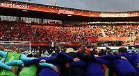 Football - 2017 UEFA Women's European [Euro] Championship - Group A : Netherlands vs. Denmark<br /> <br /> Fans of Netherlands at Sparta Stadoin , Rotterdam.<br /> <br /> COLORSPORT/LYNNE CAMERON