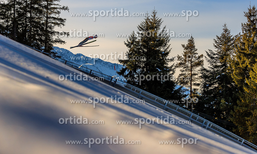 28.01.2017, Casino Arena, Seefeld, AUT, FIS Weltcup Nordische Kombination, Seefeld Triple, Skisprung, im Bild Hideaki Nagai (JPN) // Hideaki Nagai of Japan in action during his Trail Jump of Skijumping of the FIS Nordic Combined World Cup Seefeld Triple at the Casino Arena in Seefeld, Austria on 2017/01/28. EXPA Pictures © 2017, PhotoCredit: EXPA/ JFK