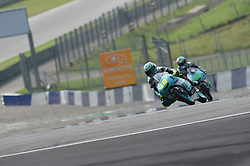 August 10, 2018 - Spielberg, Austria - 48 Italian driver Lorenzo Dalla Porta of Team Leopard Racing and  33 Italian driver Enea Bastianini of Team Leopard Racing race during free practice of Austrian MotoGP grand prix in Red Bull Ring in Spielberg, Austria, on August 10, 2018. (Credit Image: © Andrea Diodato/NurPhoto via ZUMA Press)