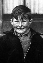 Newport, Essex photo of John Bellany as a child, UK, April 21, 2000. Photo by Andrew Parsons / i-images..