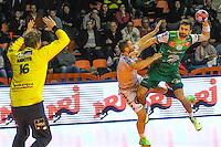 Asgeir Orn Hallgrimsson / Kornel Nagy / William Annotel  - 04.03.2015 - Nimes / Dunkerque - 17eme journee de Division 1<br />Photo : Andre Delon / Icon Sport