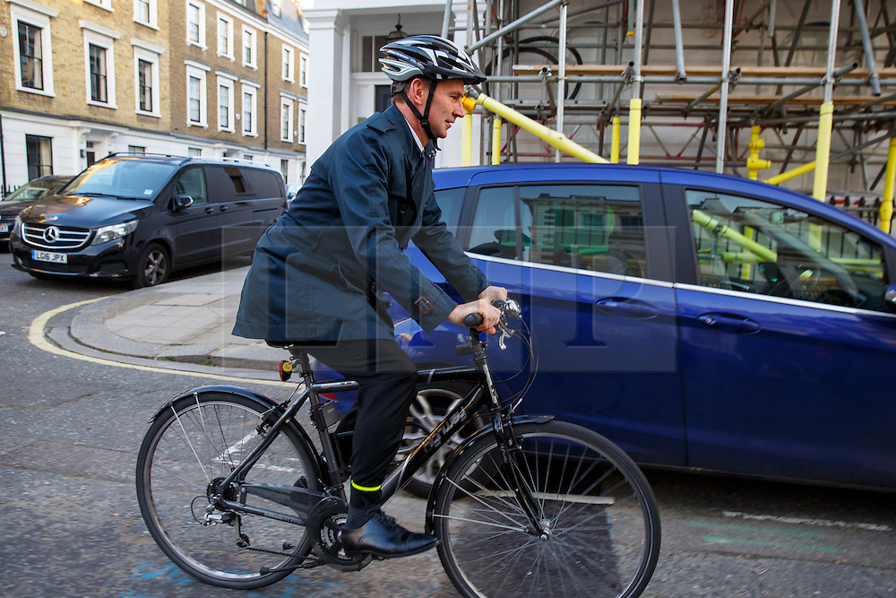© Licensed to London News Pictures. 27/04/2016. London, UK. Health Secretary JEREMY HUNT leaving his London home on Wednesday, 27 April 2016 whilst junior doctors in England stage a all-out 48-hours strike for the first time in NHS history in a dispute over pay, working hours and patient safety. Photo credit: Tolga Akmen/LNP