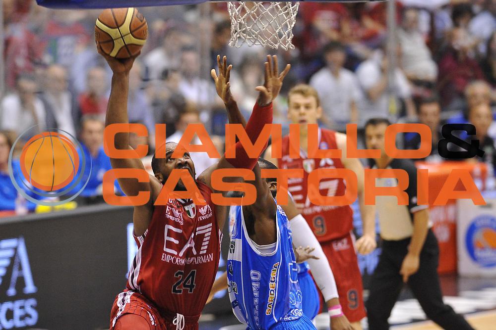 DESCRIZIONE : Milano Lega A 2014-15 EA7 Emporio Armani Milano vs Banco di Sardegna Sassari playoff Semifinale gara 1 <br /> GIOCATORE : Samuels Samardo<br /> CATEGORIA : Tiro Penetrazione <br /> SQUADRA : EA7 Milano<br /> EVENTO : PlayOff Semifinale gara 1<br /> GARA : EA7 Emporio Armani Milano vs Banco di Sardegna SassariPlayOff Semifinale Gara 1<br /> DATA : 29/05/2015 <br /> SPORT : Pallacanestro <br /> AUTORE : Agenzia Ciamillo-Castoria/A.Scaroni<br /> Galleria : Lega Basket A 2014-2015 Fotonotizia : Milano Lega A 2014-15 EA7 Emporio Armani Milano vs Banco di Sardegna Sassari playoff Semifinale  gara 1 Predefinita :