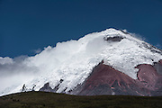 Cotopaxi Volcano currently active<br /> Errupted in mid August 2015 but intermittent explosions continue with the release of gas, steam and ash. Larger erruption expected at any time<br /> 5,897meters high<br /> Highest active volcano in the world<br /> Cotopaxi National Park<br /> Avenue of the Volcanoes<br /> Andes<br /> ECUADOR, South America