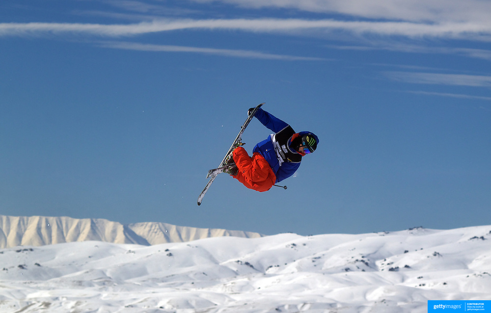 Christopher Laker, USA, in action during the Men's Freeski Big Air competition at Cardrona, New Zealand during the Winter Games. Wanaka, New Zealand, 20th August 2011. Photo Tim Clayton
