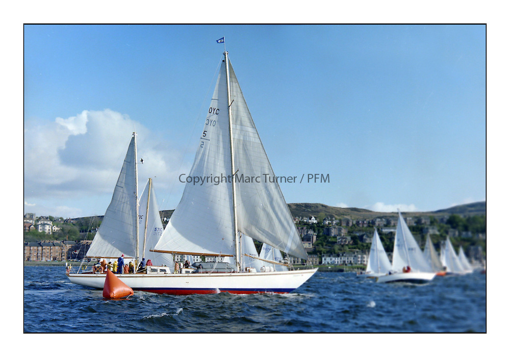 Historic Scottish Series Images<br /> <br /> 1977, OYC Taikoo during the first Start off Gourock<br /> <br /> Picture Copyright  PFM Pictures