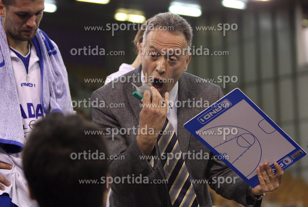 Head coach of Zadar Zmago Sagadin at Round 25 of NLB League basketball match between KK Union Olimpija and KK Zadar,  in Arena Tivoli, Ljubljana, Slovenia, on March 14, 2009.  Win of Olimpija 73 : 67. (Photo by Vid Ponikvar / Sportida)