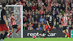 Tim Sparv of FC Midtjylland scores the opening goal - Mandatory byline: Paul Terry/JMP - 07966386802 - 20/08/2015 - FOOTBALL - ST Marys Stadium -Southampton,England - Southampton v FC Midtjylland - EUROPA League Play-Off Round