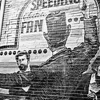Painted wall in Wicker Park, Chicago, Illinois, 2006.